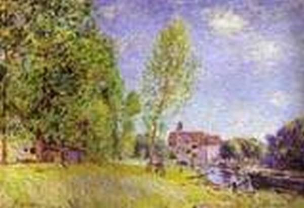 matrats boatyard moret sur loing 1883 XX musee de partementale de loise beauvais france